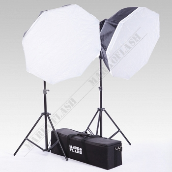 Zestaw 2x lampa RED HEAD 800W +2x softbox 80cm +2x statywy + torba